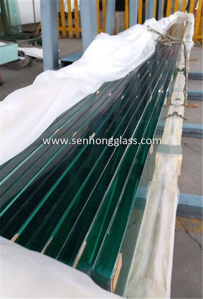 china 19mm jumbo tempered glass polished edges