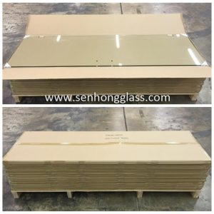 China tempered glass with carton-packing senhong
