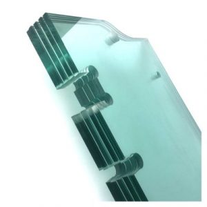China tempered glass with cut-out senhong