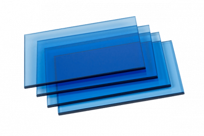 China blue reflective tinted float glass