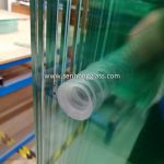 China tempered glass with countersunk holes 1-1