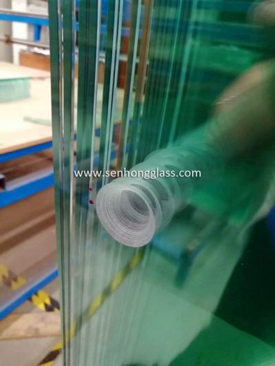 tempered glass with countersunk holes 1-1