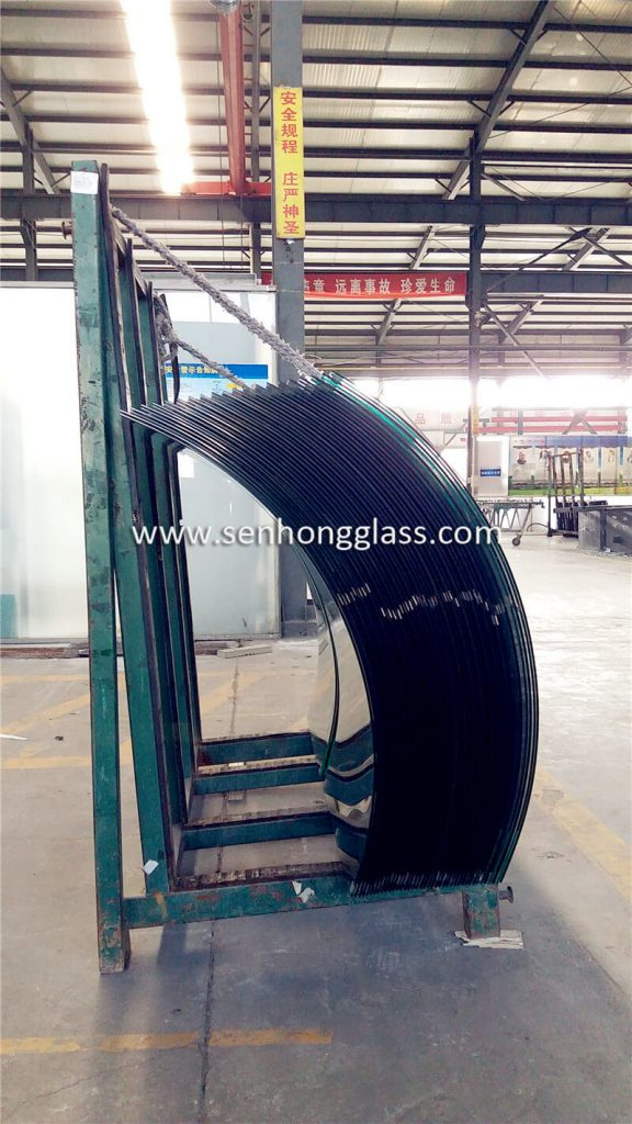 curved tempered laminated glass price china factory