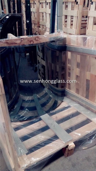 curved tempered laminated glass price china manufacturer
