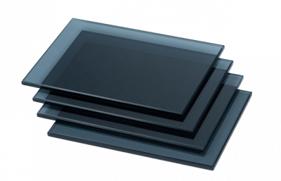 China dark grey reflective tinted float glass