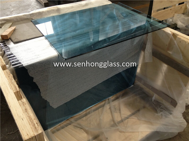 10.38 ocean blue laminated glass