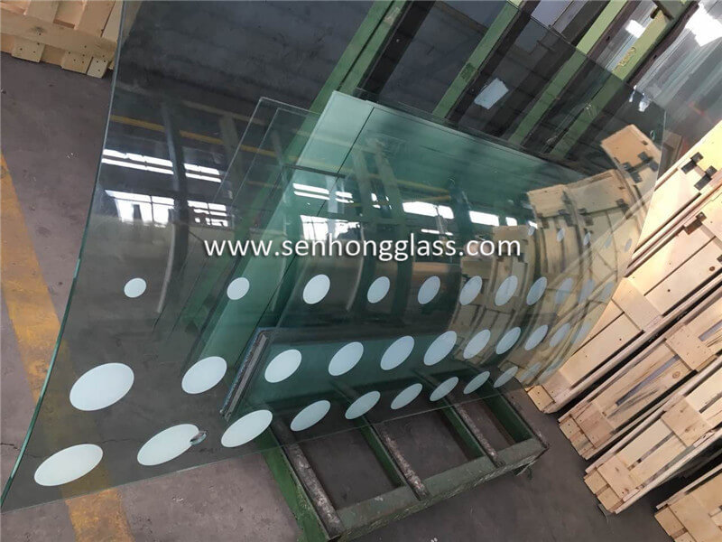 10mm silk screen printing curved tempered glass