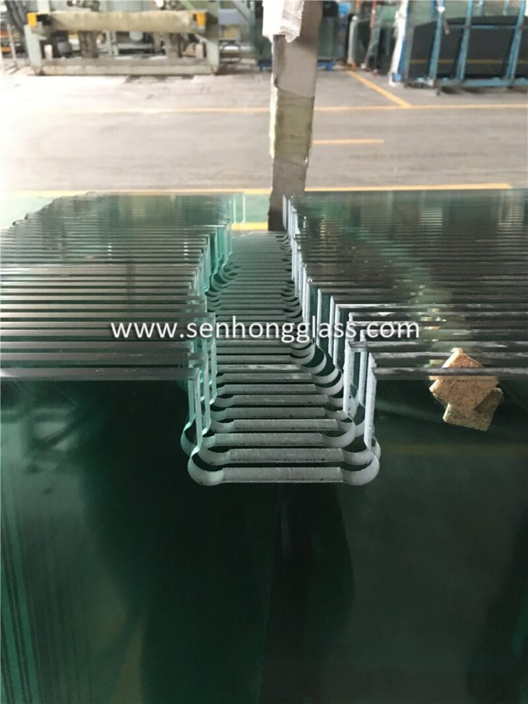 10mm tempered glass shower door cutout