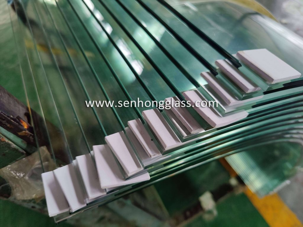 8mm curved tempered glass with small radius Shandong Senhong Glass 1