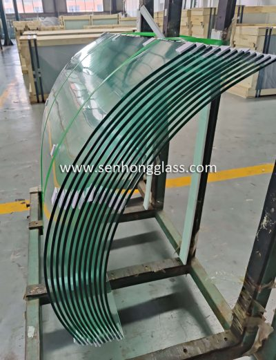 8mm curved tempered glass with small radius Shandong Senhong Glass 4